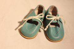 Vintage Children Lace Up Shoes - Soviet Leather Baby Boots - Retro Blue Kids Shoes - Size 3 op Etsy, 30,45€