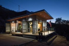Rustic cabin container home