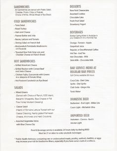 Carnival Dream Main Dining Room Menus  Until The American Table Custom Carnival Cruise Dining Room Menu Inspiration