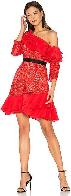 For Love & Lemons Chianti Off Shoulder Ruffle Dress  [affiliate] #ad #springfashion