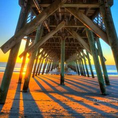 Myrtle Beach State Park Pier - one of 8 Myrtle Beach, South Carolina area piers to enjoy for fishing, entertain, awesome sunrises and more! Click on the pin to see more information about all 8 piers!   Photo via Instagram By @jamie_gainey