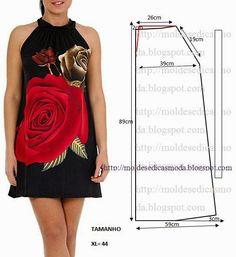 Plantillas de moda para Medida: VESTIDO PARA HACER FACIL - 14