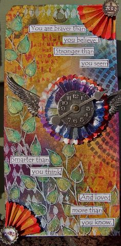 ten thirty-six arts and crafts ... ellen vargo: I Challenge Thee.... A Dylusions Tag!