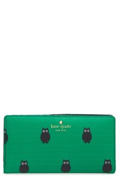 kate spade new york 'hawthornelane - owls stacy' wallet (Nordstrom Exclusive) available at #Nordstrom