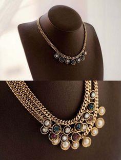 F f evening dress necklace