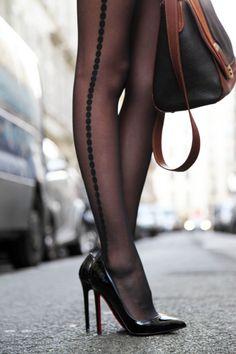 tuxedo stripe stockings