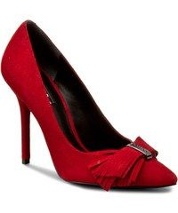 GUESS 'Pabie' Red suede pointed-toe decorated vamp stiletto heel Pump