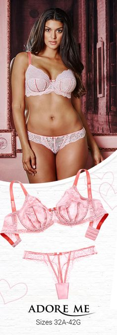 Add a touch of lace.   Shop Adore Me's latest lingerie collection, available in 32A-42G <3