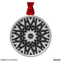 Origins Round Metal Christmas Ornament