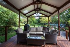Outdoor living space created by ACT Decks
