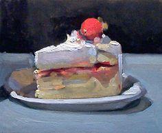 Cake painting by Simon Levenson. Painter Cake, Food Painting, Cake Painting, Arts Bakery, Cake Drawing, Painting Still Life, Piece Of Cakes, Cake Art, Let Them Eat Cake