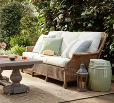 Crazy Tips and Tricks: White Wicker Shades wicker chair nursery.White Wicker Home Tours painted wicker vanity. Wicker Porch Furniture, Wicker Couch, Outdoor Lounge Furniture, Outdoor Decor, Outdoor Sofas, Porch Chairs, Wicker Headboard, Wicker Shelf, Wicker Table