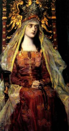 Józef MECINA-KRESZ Jadwiga of Poland Hedwig (Polish: Jadwiga Andegaweńska; – 17 July was queen of Poland from 1384 to her death. She was a member of the Capetian House of Anjou, the daughter of king Louis I of Hungary and Elizabeth of Bosnia August Sander, Albert Bierstadt, Austin Osman Spare, Poland History, Art History, Alphonse Mucha, Alfred Stieglitz, André Kertesz, Witches
