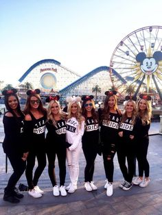Mallory's Disneyland Bachelorette Party Bachelorette Party Outfits, Cute Party Outfits, Disneyland Bachelorette Party, Bachelorette Weekend, Hen Do Outfits, Bachlorette Party, Bachelorette Itinerary, Disney Bridesmaids, Team Bride Ideas