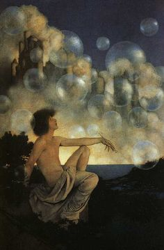 Maxfield Parrish  illustration. artpassions.net.