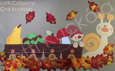 16 csodás kép egy őszi ablakdekorációról - Óvó néni.blog.hu Baby Crafts, Toddler Crafts, Diy And Crafts, Paper Crafts, School Decorations, Paper Decorations, Autumn Decorating, Fall Decor, September Crafts