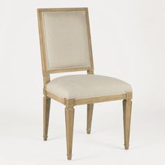 Square back Louis XVI classic styling fits well in both Gustavian and modern settings. Use this in an unexpected way with an acrylic modern desk.