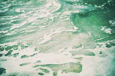 Mint Green Ocean Water Photograph Sea Foam Wall Art by NatureCity