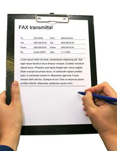 9 best free printable fax cover sheet templates images on pinterest
