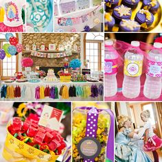 I know I will eventually have to have a princess party... This one has some good ideas. Cute & Colorful Disney Princess Birthday Party
