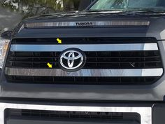 Toyota Tundra Grille Overlay Trim Stainless Steel Chrome 2PC QAA SG14145 #QualityAutomotiveQAA