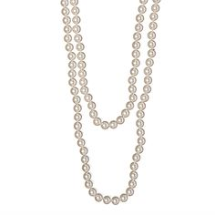 I love the All the Rage Long Faux Pearl Necklace from LittleBlackBag