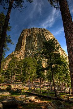 Devils Tower, Devils Tower National Monument,    Wyoming