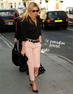 Pastel trousers: Kate Moss inspiration