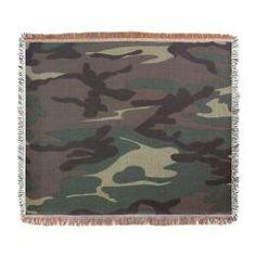 Camo Woven Blanket> Lisa Williams Art