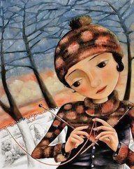 La dame au tricot