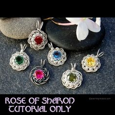 HOLIDAY SALE - Rose of Sharon Coiled Faceted Birthstone Pendant - Instant Download Wire Jewelry Tutorial Instruction PDF. $5.00, via Etsy.