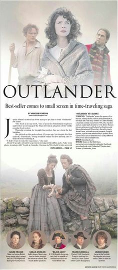 OUTLANDER!  Have seen the first 3 episodes so far and I'm hooked!  Can't wait for Saturdays!