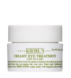 Creamy Avocado Eye Treatment...thick, moisturizes well, and keeps dark circles at bay.