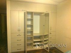 Closet de melamine 18mm, para pareja lleva colgadores, zapatera, repisas, cajones con llave, maletera y espejo