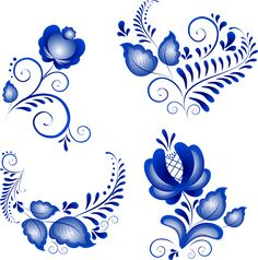 Illustration about Russian ornaments in gzhel style. Gzhel (a brand of Russian ceramics, painted with blue on white). Illustration of ornate, culture, painting - 13425434 China Painting, Tole Painting, Fabric Painting, Gravure Illustration, Russian Folk Art, Scandinavian Folk Art, Russian Painting, Flower Ornaments, One Stroke Painting