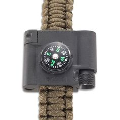 Survival Bracelet Accessory - Compass, LED, and Firestarter - CRKTStore