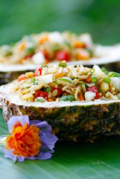 Tropical pinapple salad ... great for a bbq, nice presentation too!