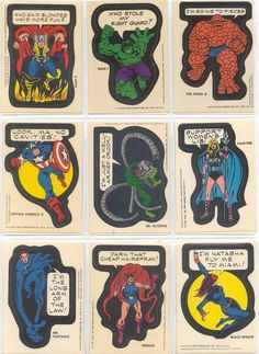Bizarro 1970s Marvel Topps Stickers Are Their Own Parody - ComicsAlliance | Comic book culture, news, humor, commentary, and reviews