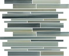 Beach Break Hand Painted Linear Glass Mosaic Tiles   Rocky Point Tile - Online Glass Tile and Glass Mosaic Tile Store