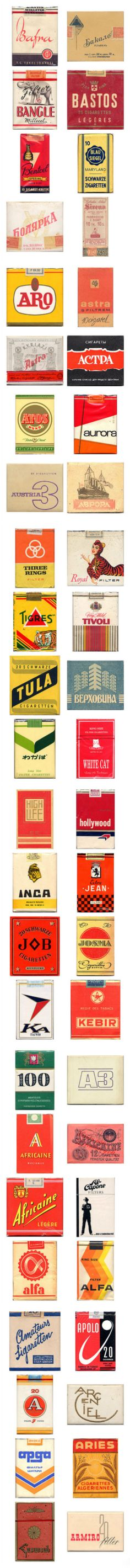 Φ复古包装Φ 世界各地香烟包装,时光的味道~ ◣by 旧时光百货◥