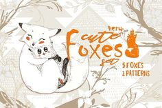 Cute Foxes and Forest Patterns by Gluiki on @creativemarket