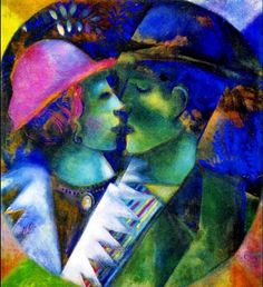 Marc Chagall, The Green Lovers, 1914-15.