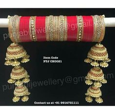 oh laavan laineya 😉 jatti ne tere naal eadki Wedding Chura, Desi Wedding, Wedding Wear, Wedding Dresses, Wedding Jewellery Inspiration, Indian Wedding Jewelry, Indian Bridal, Bridal Bangles, Bridal Jewelry