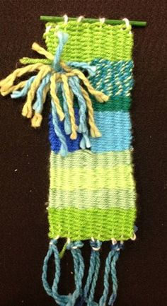 grade 3 weaving by Nathaniel (Donna Staten lesson)