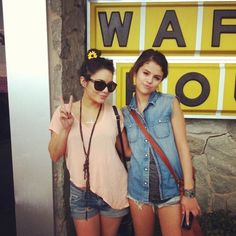 Super cute pic of Vanessa Hudgens and Selena Gomez.