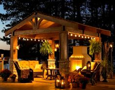 make outside a little cozier.