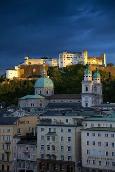 Hohensalzburg Castle above Saltzburg, Austria. More Austrian beauty. Spent a year in Austria during college. Places To Travel, Places To See, Travel Destinations, Klagenfurt, Innsbruck, Places Around The World, Around The Worlds, Switzerland Vacation, Famous Castles