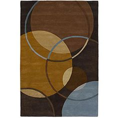 Hand-tufted Mandara Brown Wool Rug (9' x 13')