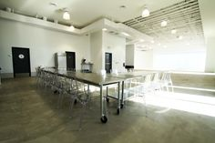 Upscale, modern studio that is available for parties, commercials, corporate events, seminars, fundraisers and conferences