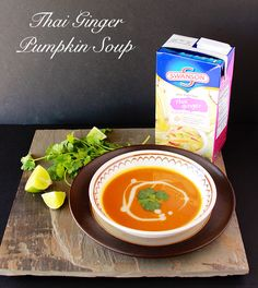 Thai Ginger Pumpkin Soup by will bring pumpkin to a whole new level of delicious! by www.cookingwithruthie.com